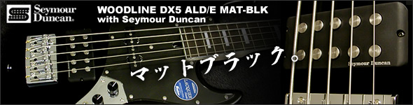 WOODLINE DX ALD/E MAT-BLK with Seymour Duncan